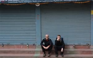 Pause und Gucken in Kathmandu